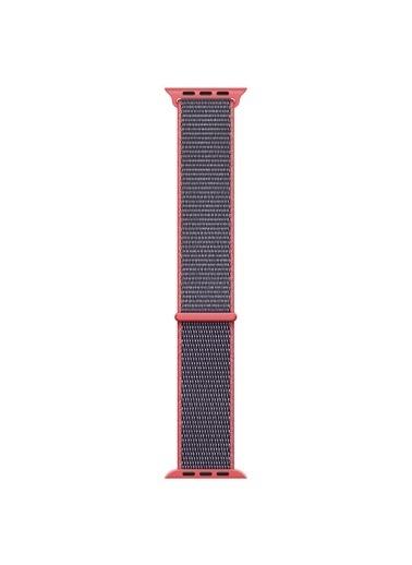 Microsonic Apple Watch SE 40mm Hasırlı Kordon Woven Sport Loop Pembe